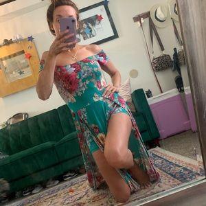Dresses & Skirts - Floral maxi dress/romper!